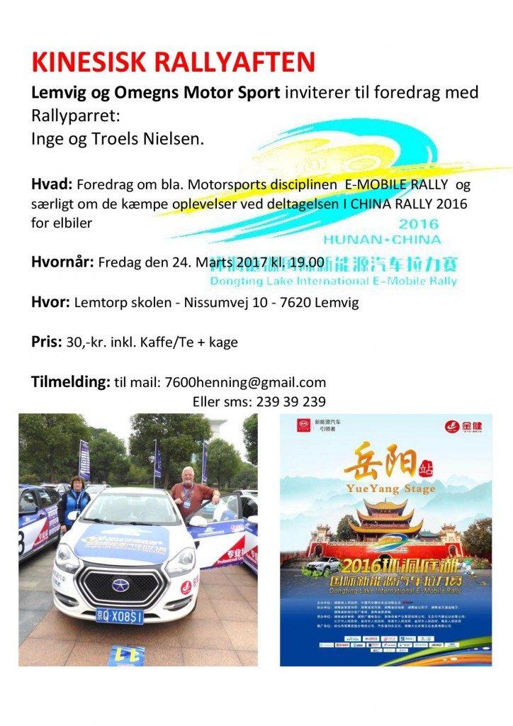Kinesisk rallyaften