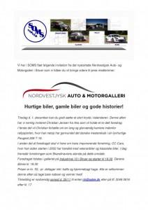 Vi har i SOMS fået følgende invitation fra det nystartede Nordvestjysk Auto-page-001