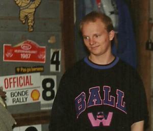 Mads Kjær ved nisseløb 1989